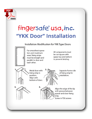 YKK Door Installation Instructions