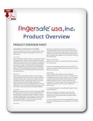 Fingersafe USA Product Overview